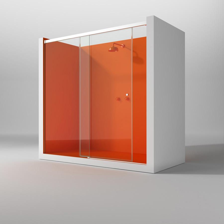 Lasser pr sente sa nouvelle collection de parois pour baignoire et douche lasser fabricant du for Portes de douche coulissantes